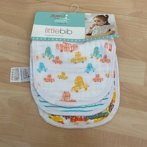 New Zutano for Aden Boys Little Bib 3 pack